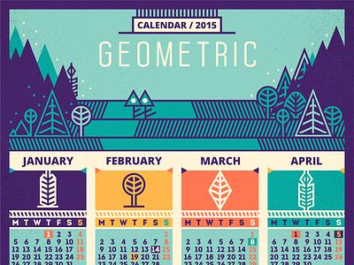 Calendar / 2015 [Geometric - recolored] adline brassai szende calendar nature geometric 2015