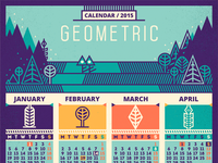 Calendar / 2015 [Geometric - recolored]
