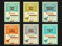 Tea Labels for Zip bags [Kinesiska Te Compagniet]