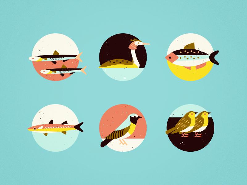 More indicator elements [wip] tree brochure meadow sea fish bird print icon brassai adline