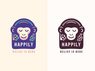 Happily [concept Nr.2 - wip] happiness happy serenity social exotic zen smiling monkey szende brassai