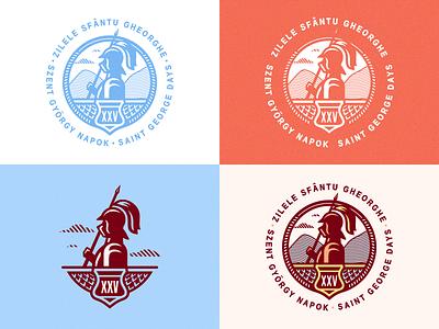 Szent György Napok / 2016 [Saint George Days / 2016] badge emblem saint days adline brassai medieval knight
