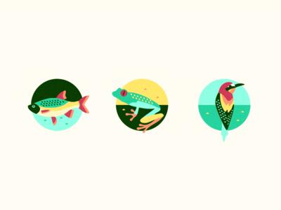 In the Jungle [Icons] nature bird fish frog exotic tribal jungle szende brassai adline