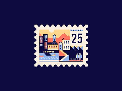 Stamp  building town print stamp brassai adline