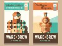 Wake & Brew Coffee Co. [ Label Designs ]