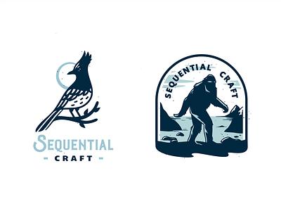 Logo Concepts branding logo canada stellers jay sasquatch bigfoot wildlife nature craft bird brassai szende