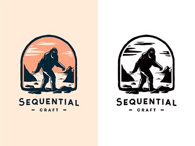 SC  [ Final Version ] branding logo canada sasquatch bigfoot wildlife nature craft bird brassai szende