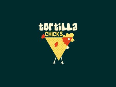 Tortilla Chicks vector yellow bird funny chicken cartoon hen dots logo design illustration animal fun