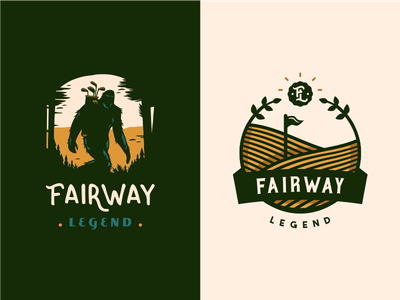 Fairway Legend [ concepts - wip ] wild play golf nature forest wood sasquatch bigfoot emblem
