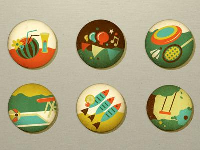 Summer Icons(in the backyard/garden) adline brassai icon icons summer fun backyard garden vintage icon design icon designer