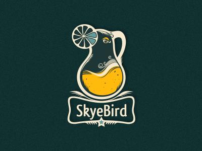 Skyebird craft made logo designer adline brassai szende logo juice bird jug fruit organic healthy local quality inventive food drink drinks gourmet orange