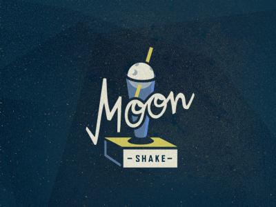 MoonShake illustration logo design logo designer adline logo branding moon shake space neon brassai star