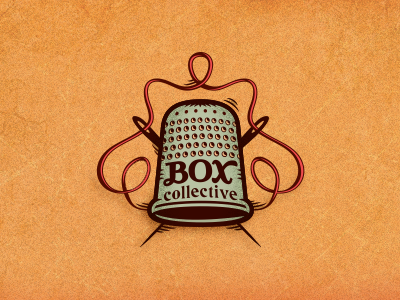 Box Collective #1 adline branding brassai logo design box collective handmade textural comfortable classic handsewn touchable online store clothing handcrafted needle thimble