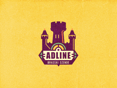 Adline  logo designer colors adline logo branding design brassai szende personal tower castle yellow graphic color palette logo design color