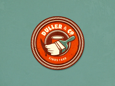 Duller & Co (wip) adline brassai szende logo branding paint retro vintage brush color colored emblem personal traditional shop helpful special out of the box friendly label badge can