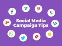 Social Media Campaign Tips Infographic