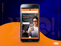 Yo!Pro App Homescreen Design