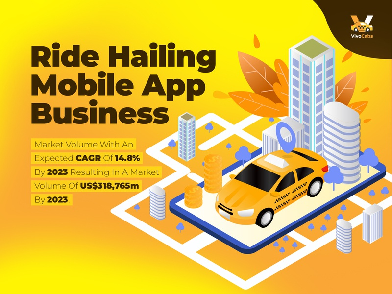 Ride Hailing Mobile App Business Graphic
