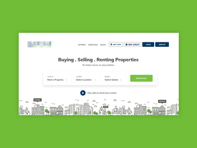 Property Buying & Selling Webpage Mockup
