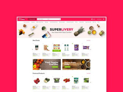 Superlivery Ecommerce Website Design