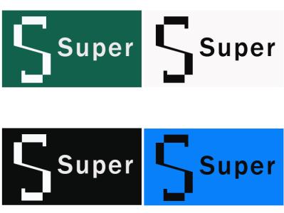 Super Logo Concept minimalist logo design logo design logo