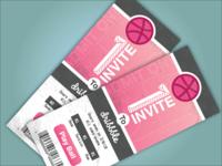 2 Dribbble Ticket Invites