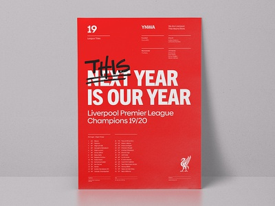 This year is our year liverpool fc modern design grid layout poster typography
