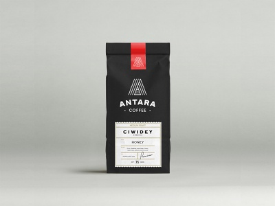 Antara Coffee Label Design design layout typography label packaging labeldesign coffee