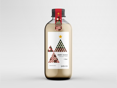 Christmas Edition Coffee Label Design geometric label packaging packaging design coffee label coffee label design label christmas tree christmas design grid layout typography