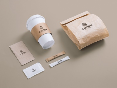 Caffeine Culture Logo coffee packaging coffee bean coffee cup coffee design modern abstract logo typography