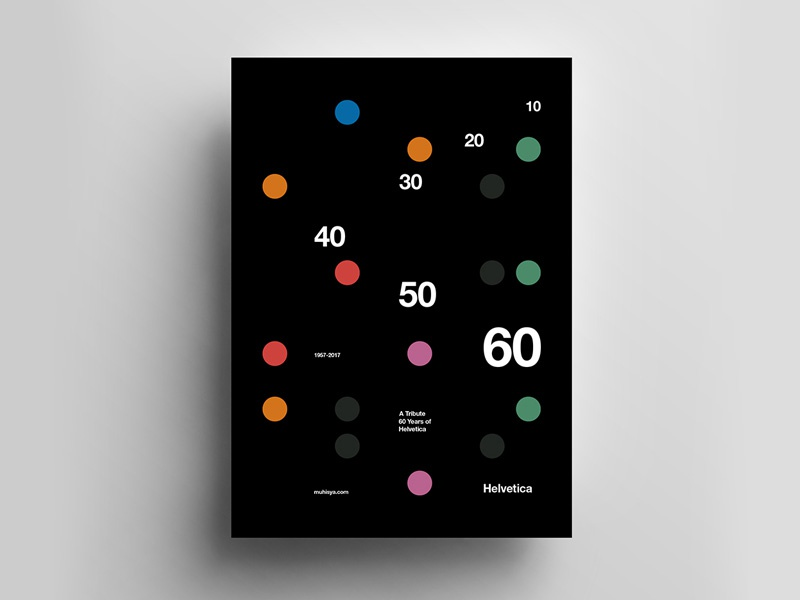 Helvetica 60th Poster By Muhammad Isya