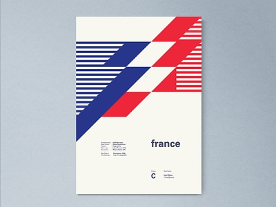 France | World Cup 2018 Poster Series france layout geometric poster worldcup