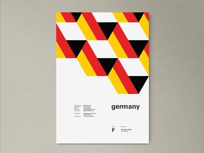 Germany | World Cup 2018 Poster Series germany layout geometric poster worldcup