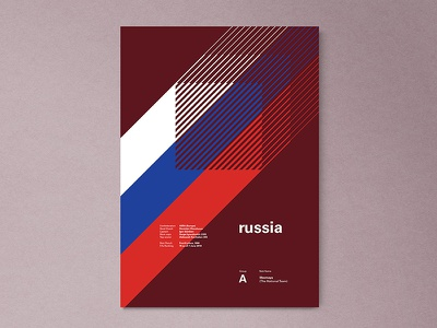 Russia  | World Cup 2018 Poster Series russia layout geometric poster worldcup