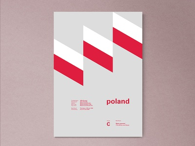 Poland | World Cup 2018 Poster Series fifa russia warsaw modern abstract layout geometric poster worldcup