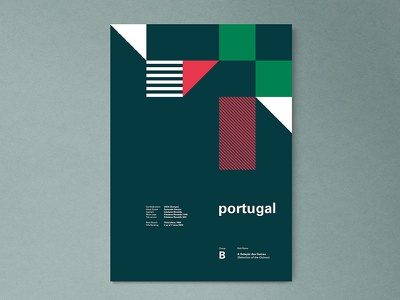 Portugal | World Cup 2018 Poster Series fifa russia lisbon modern abstract layout geometric poster worldcup