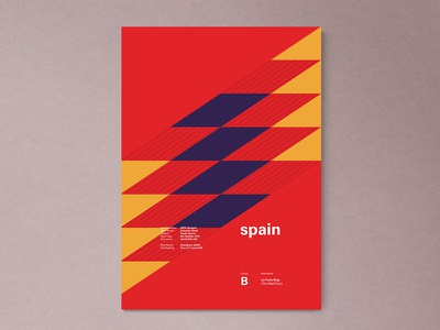 Spain | World Cup 2018 Poster Series fifa russia spain madrid modern abstract layout geometric poster worldcup
