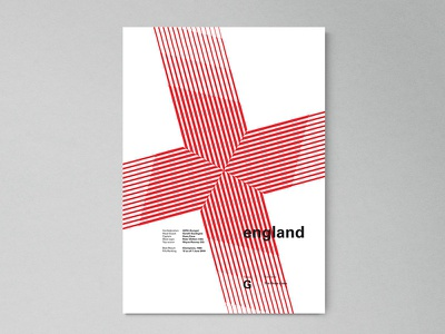 England | World Cup 2018 Poster Series fifa russia london modern abstract layout geometric poster worldcup