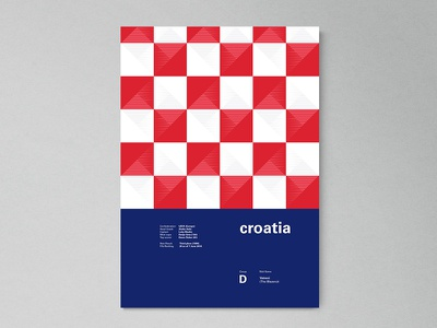 Croatia | World Cup 2018 Poster Series fifa russia modern abstract layout geometric poster worldcup