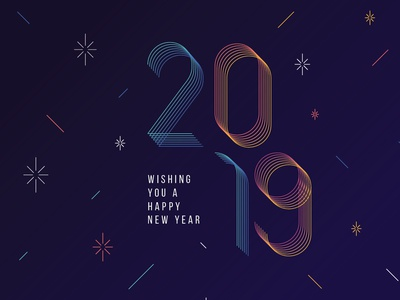 Happy New year modern grid layout geometric abstract typography poster 2019 new year 2019 new year eve