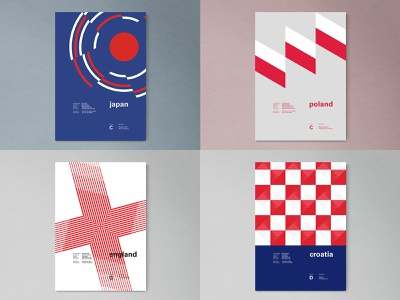 #Top4Shots modern france fifa russia worldcup logo grid geometric abstract poster layout typography