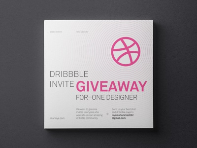 1 Dribbble Invites Giveaway dribbble invitation dribbble invite dribbble grid layout poster typography