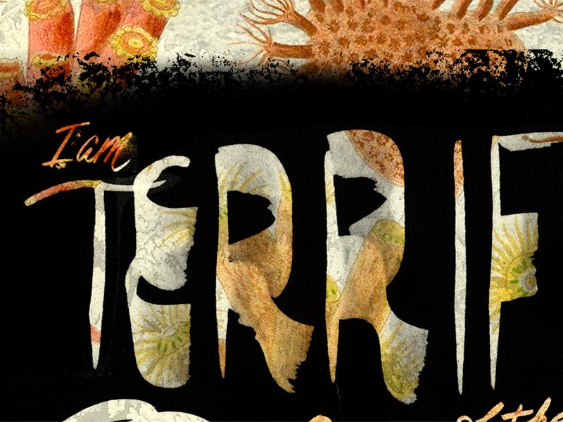 1. The Ocean fears fear type typography hand drawn script rough texture ocean