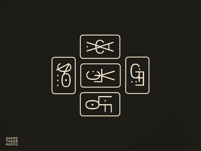 Shapetaker Module Symbols magical electronic music synth electronic mystic occult magic branding icon typography design type symbolset symbols