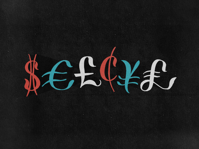 Mo Money practice sketch letter script typography currency money lettering type