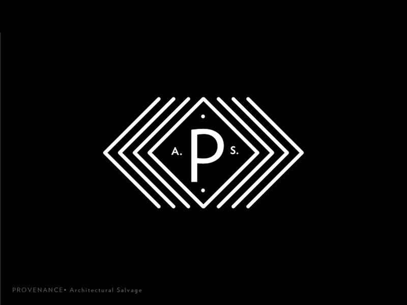 Prov Logo 7 type salvage rebrand monogram mark logotype logo lines identity icon exploration brand