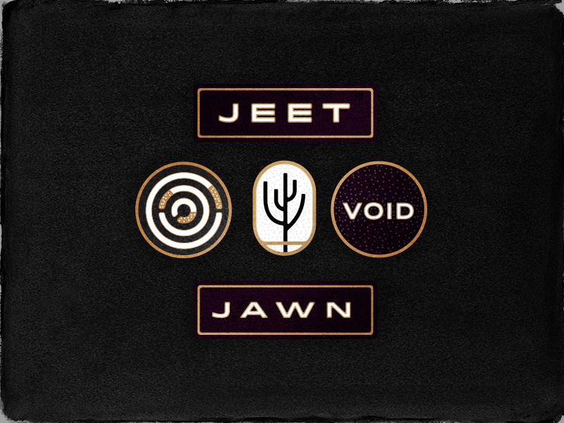 Group pins plant fern type jawn philly enamel pin