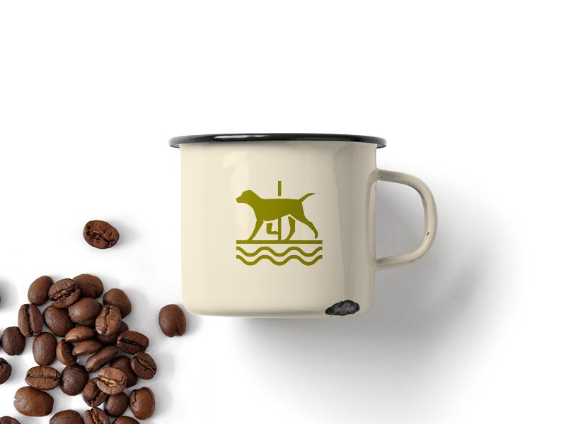 Farm mark 2 type icon dog badge identity mark logo