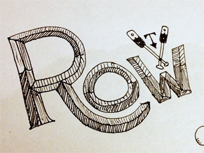 Row typography illustration