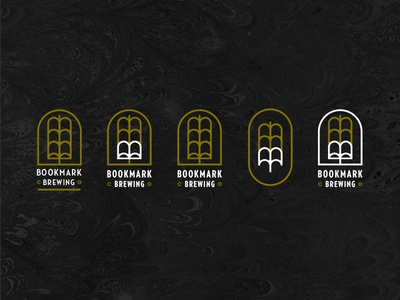 Bookmark Brewing company brewing open book brewery identity logo beer